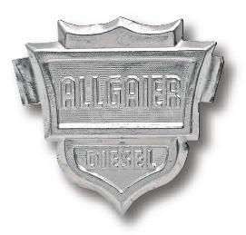 48 Haubenemblem aus Aluminium für Traktor Schlepper Fahr Schild