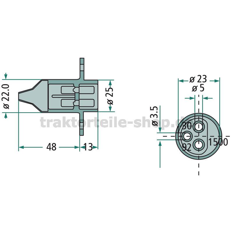 Kat 3-2 2x Unterlenker Reduzierhülse mit Bohrung für Stecker Reduzierbuchse